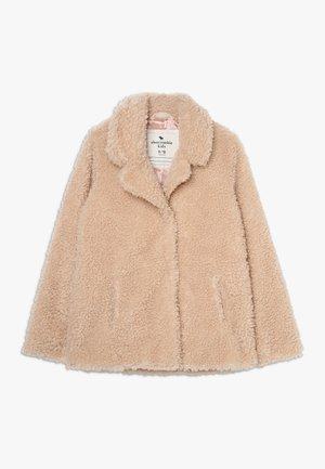 TEDDY COAT - Zimní kabát - beige
