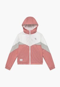 Abercrombie & Fitch - COLORBLOCK - Jas - pink/grey/white - 0