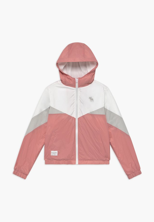 COLORBLOCK - Lett jakke - pink/grey/white