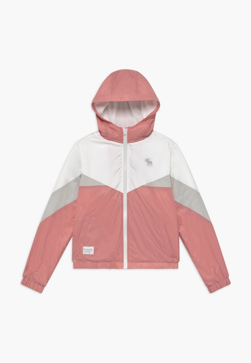 Abercrombie & Fitch - COLORBLOCK - Jas - pink/grey/white