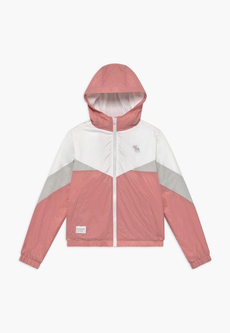 Abercrombie & Fitch - COLORBLOCK - Välikausitakki - pink/grey/white