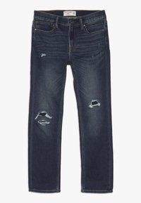 Abercrombie & Fitch - DARK DESTROY SKINNY  - Jeans Skinny Fit - dark blue - 0