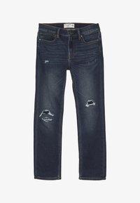 Abercrombie & Fitch - DARK DESTROY SKINNY  - Jeans Skinny Fit - dark blue - 3