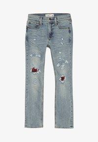 Abercrombie & Fitch - SKINNY DARK DESTROY BACKING  - Jeans Skinny - light blue denim - 3