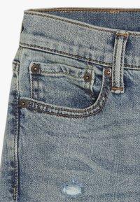 Abercrombie & Fitch - SKINNY DARK DESTROY BACKING  - Jeans Skinny - light blue denim - 2