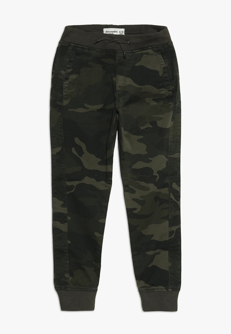 Abercrombie & Fitch - BETTER CAMO JOGGER - Trousers - khaki