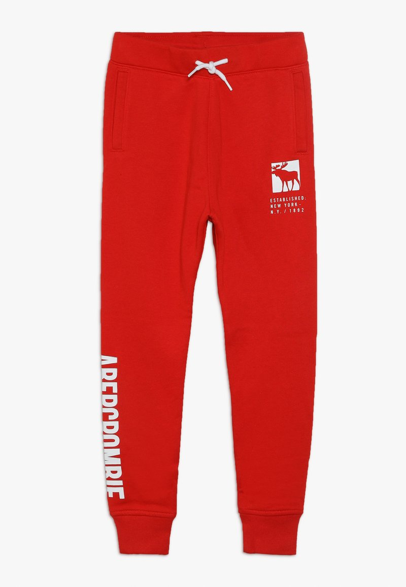 Abercrombie & Fitch - CORE LOGO - Trainingsbroek - red