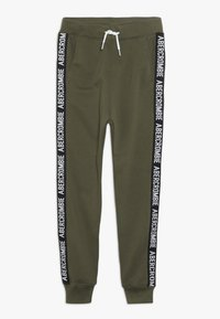 Abercrombie & Fitch - TAPE IT TO THE LIMIT - Joggebukse - olive - 0