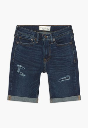 CORE - Denim shorts - dark blue denim