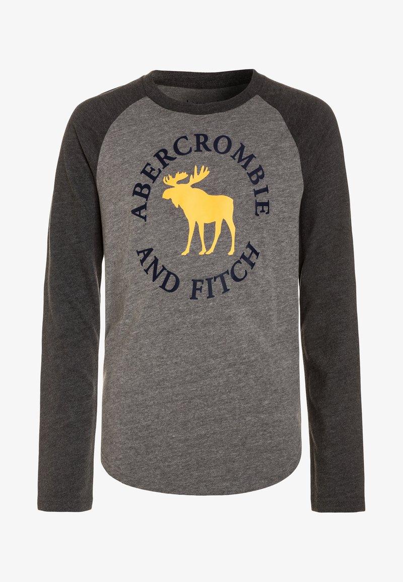 Abercrombie & Fitch - RAGLAN PRINT LOGO - Longsleeve - grey/dark grey