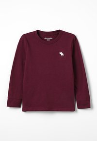 Abercrombie & Fitch - BASIC CREW - Long sleeved top - burg - 0