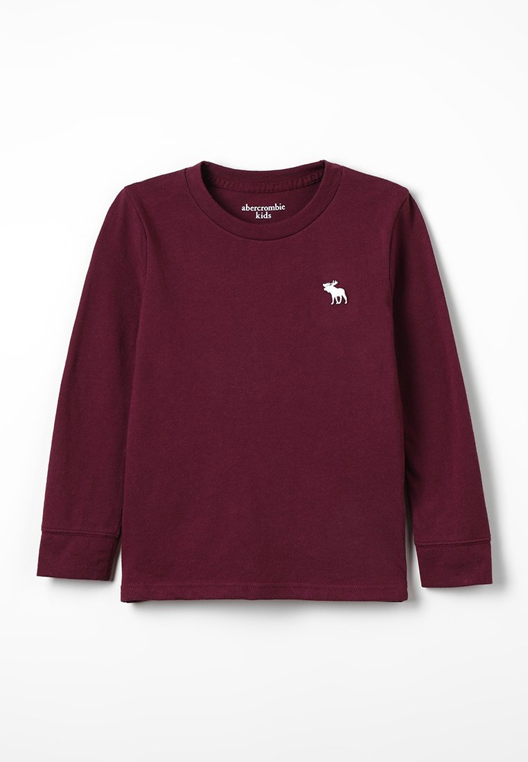 Abercrombie & Fitch - BASIC CREW - Long sleeved top - burg