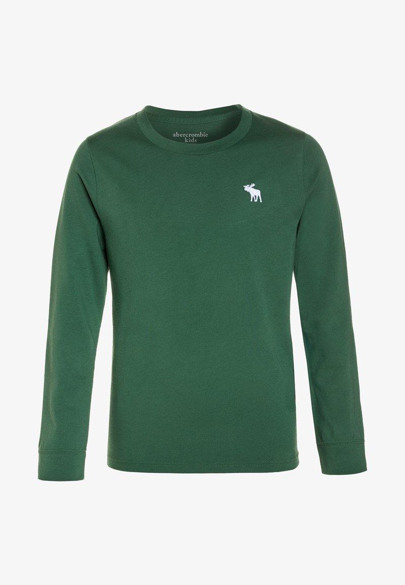 Abercrombie & Fitch - BASIC CREW - Maglietta a manica lunga - green