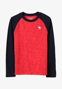 Abercrombie & Fitch - RAGLAN - Pitkähihainen paita - red/navy - 2