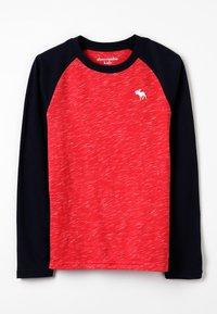 Abercrombie & Fitch - RAGLAN - Pitkähihainen paita - red/navy - 0