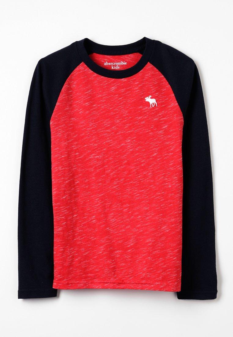 Abercrombie & Fitch - RAGLAN - Pitkähihainen paita - red/navy