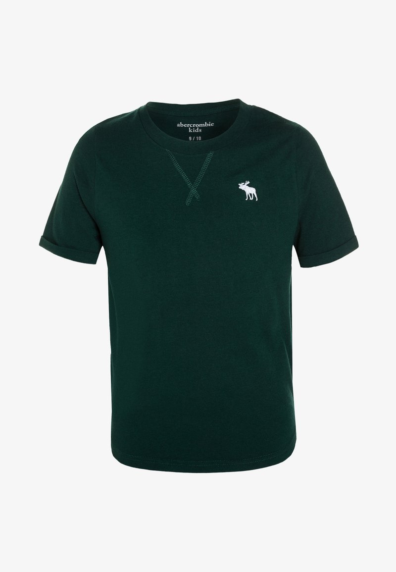 Abercrombie & Fitch - CURVED CREW - Basic T-shirt - dark green