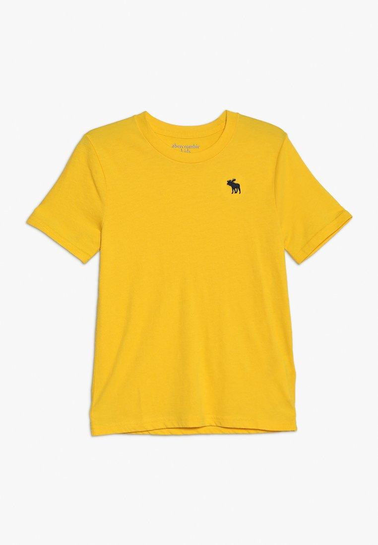 Abercrombie & Fitch - BASIC CREW - Basic T-shirt - yellow
