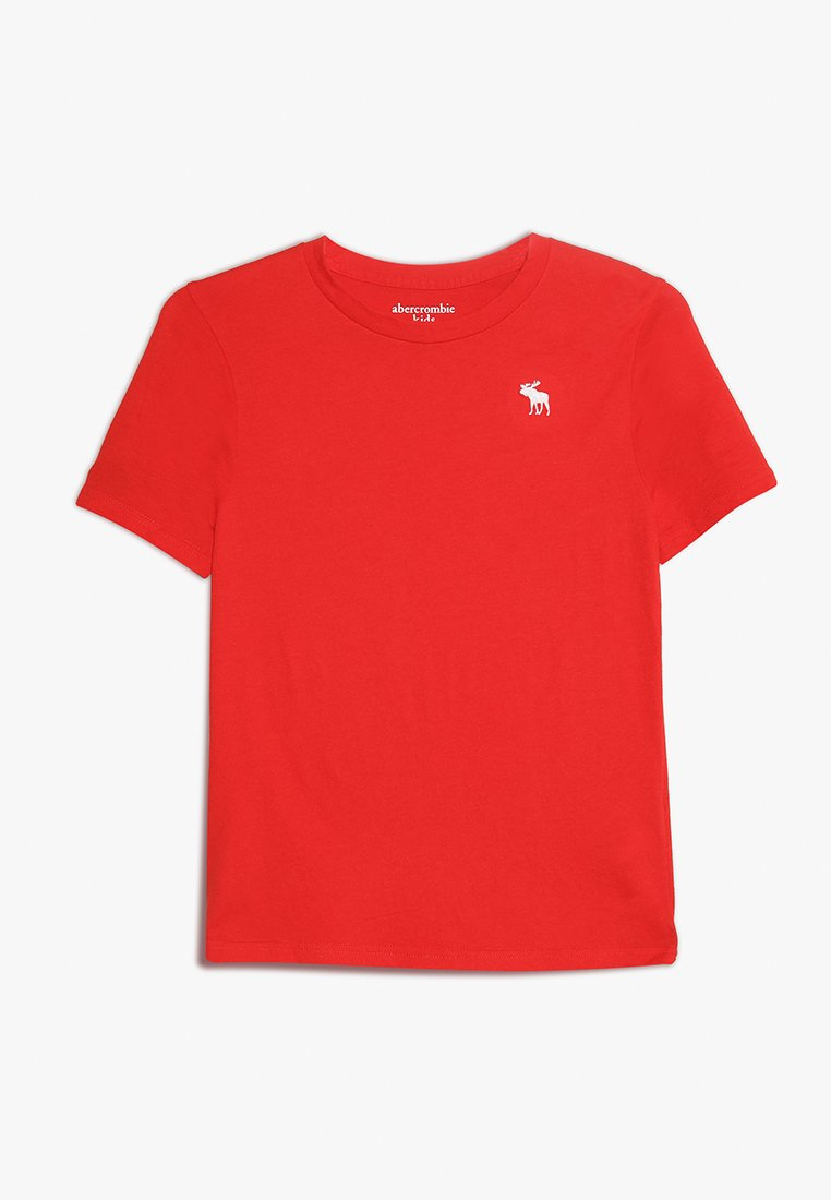 Abercrombie & Fitch - BASIC CREW - Basic T-shirt - red