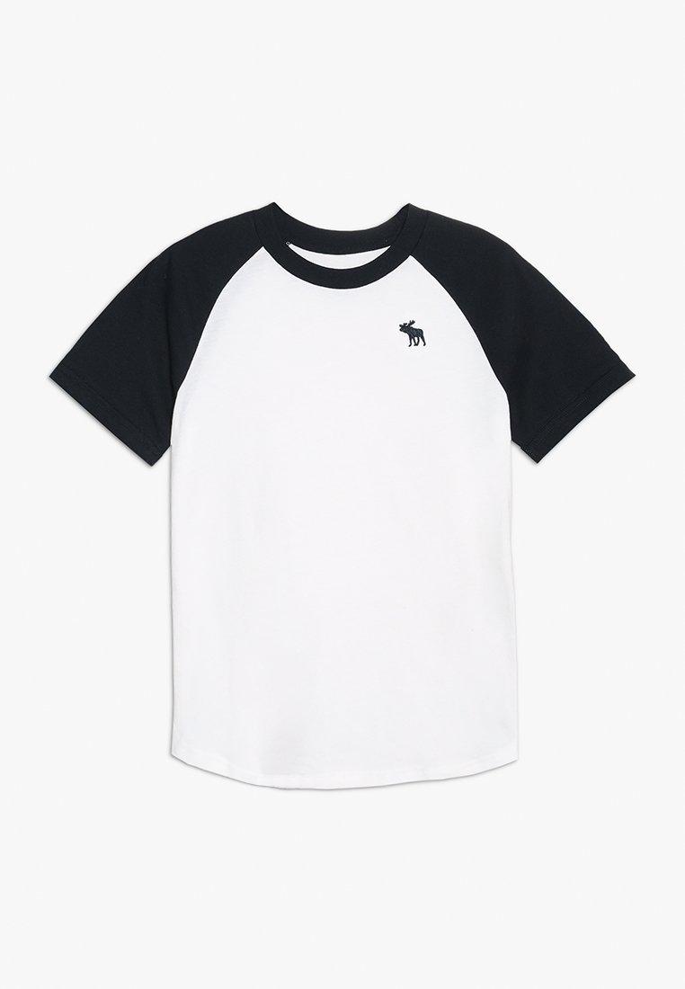 Abercrombie & Fitch - BASIC RAGLAN CREW - T-Shirt print - white/navy
