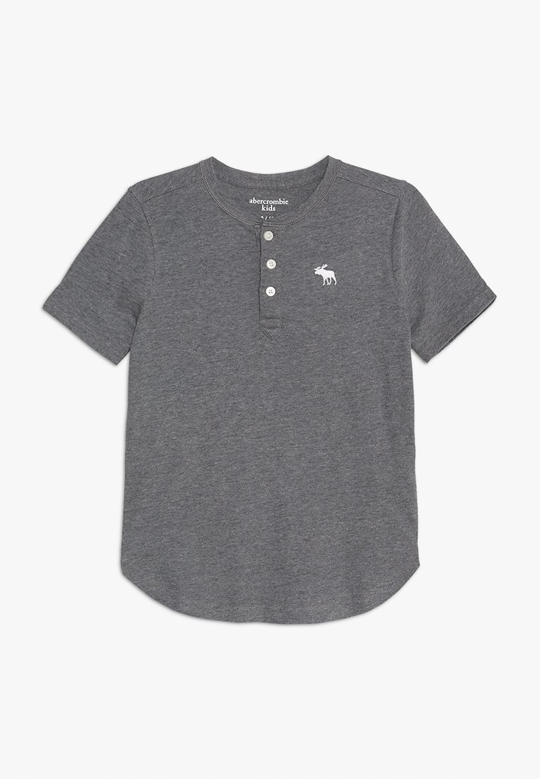 Abercrombie & Fitch - HENLEY - Basic T-shirt - grey