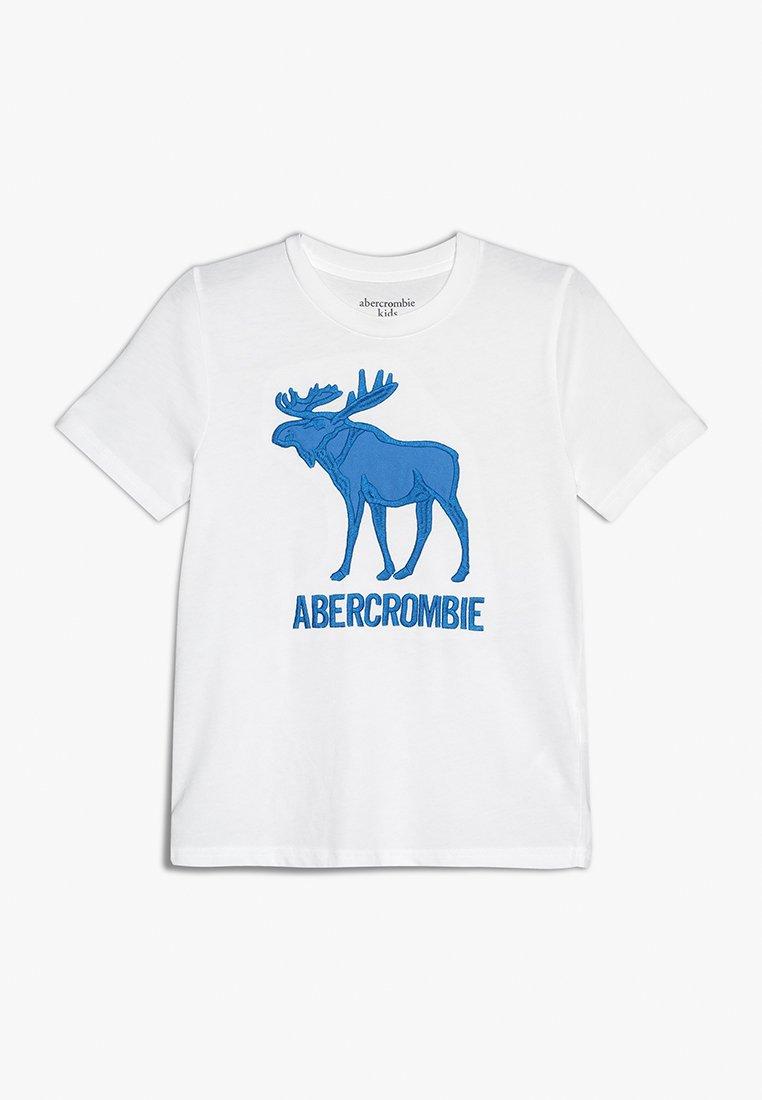 Abercrombie & Fitch - JAN TECH LOGO - T-Shirt print - white