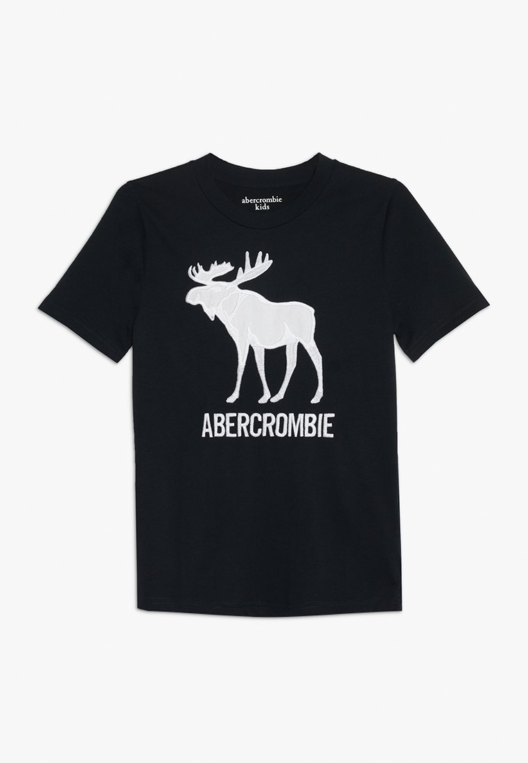 Abercrombie & Fitch - JAN TECH LOGO - T-shirt imprimé - navy
