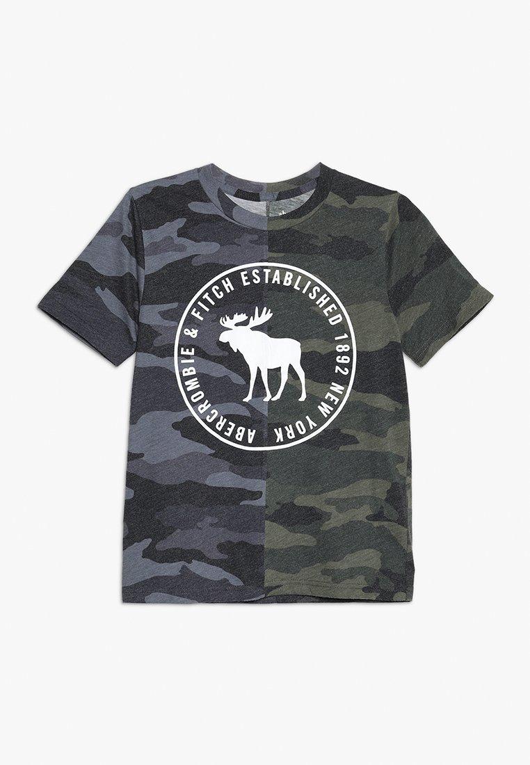 Abercrombie & Fitch - PATTERN PRINT LOGO  - T-shirt imprimé - khaki