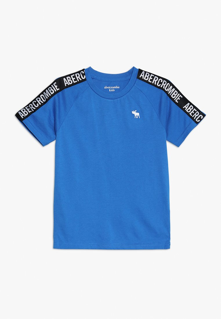 Abercrombie & Fitch - LOGO TAPE - Print T-shirt - blue