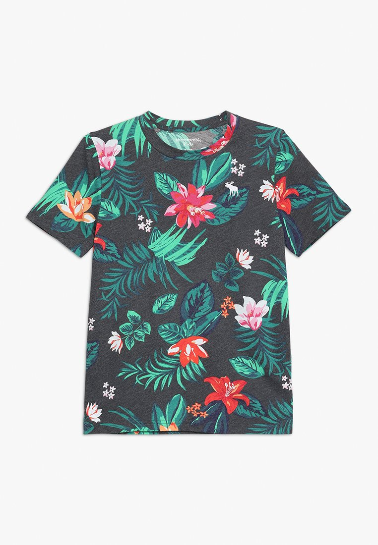 Abercrombie & Fitch - T-Shirt print - black grounded floral