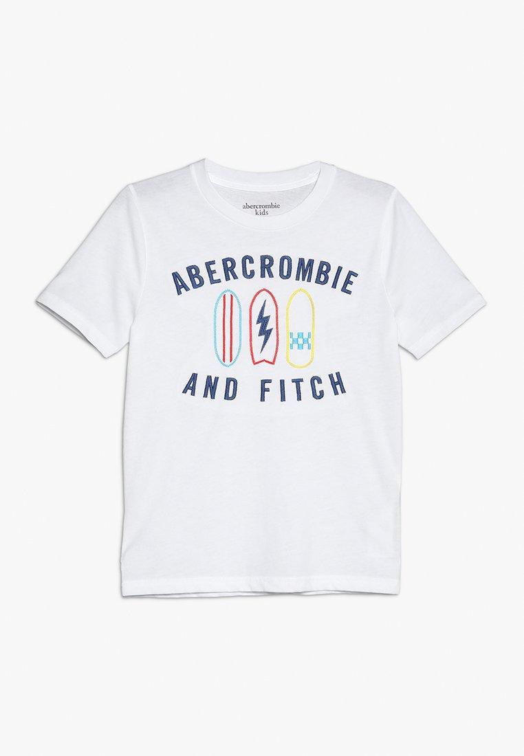 Abercrombie & Fitch - JAN TECH LOGO - T-shirts print - white