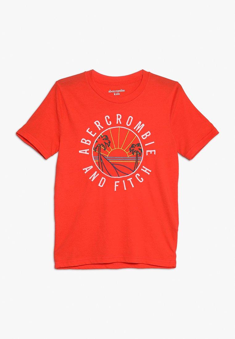 Abercrombie & Fitch - JAN TECH LOGO - Print T-shirt - orange