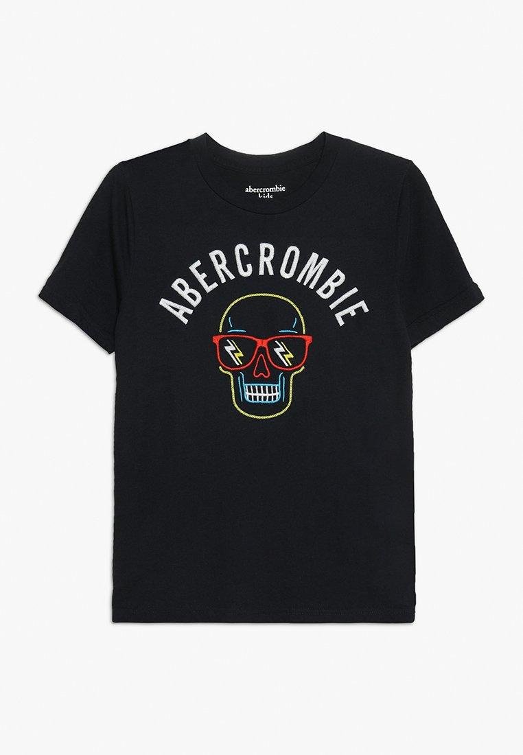 Abercrombie & Fitch - JAN TECH LOGO - Print T-shirt - navy