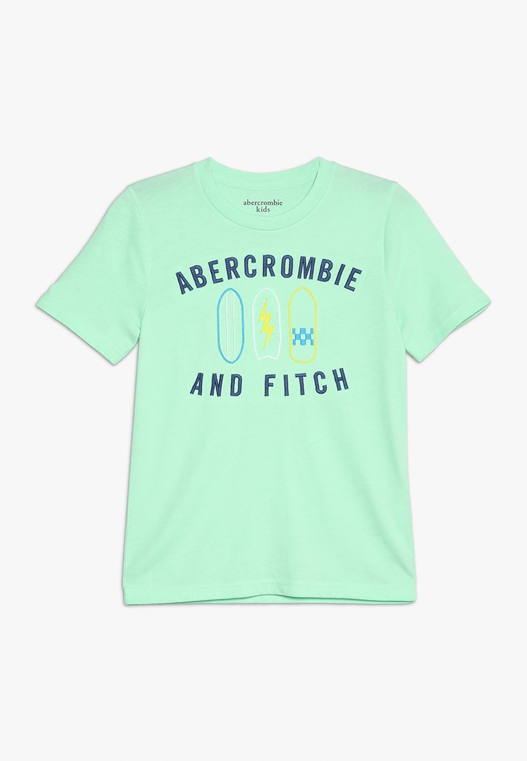 Abercrombie & Fitch - JAN TECH LOGO - Printtipaita - mint green
