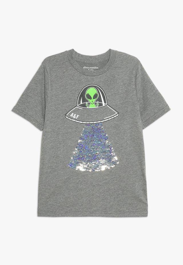 FLIP SEQUINS - Print T-shirt - grey melange