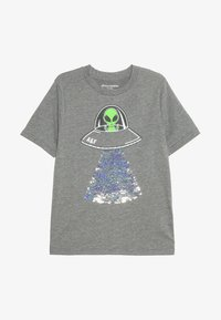Abercrombie & Fitch - FLIP SEQUINS - Print T-shirt - grey melange - 2