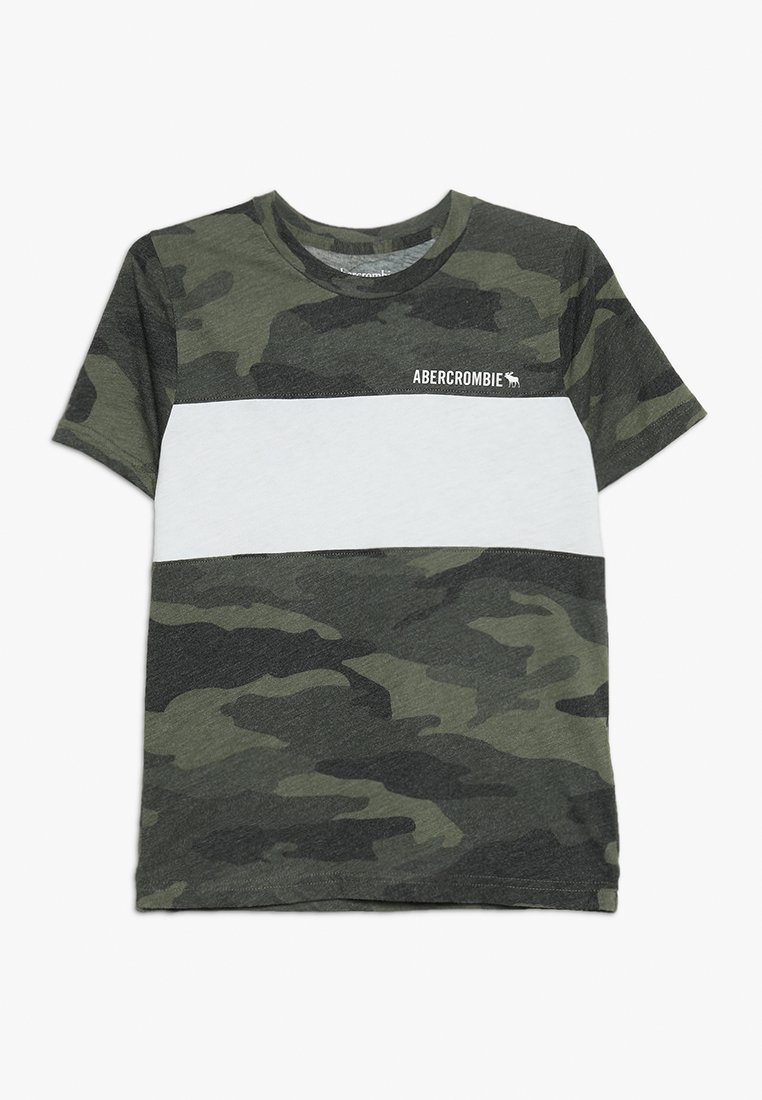 Abercrombie & Fitch - PATTERN - T-shirts print - olive/white
