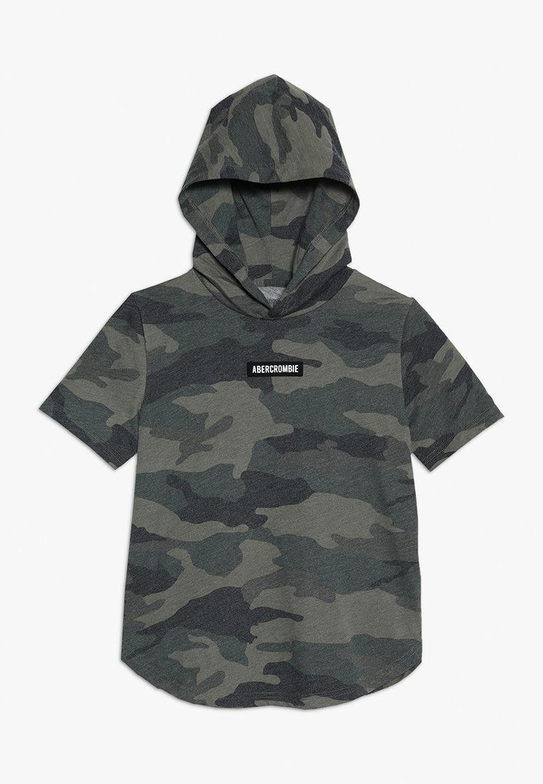 Abercrombie & Fitch - HOODED TEE - T-shirt med print - olive