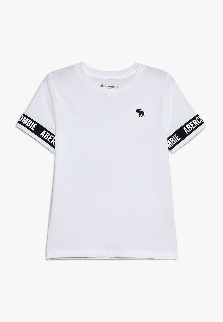 Abercrombie & Fitch - LOGO TAPE - T-shirt med print - white