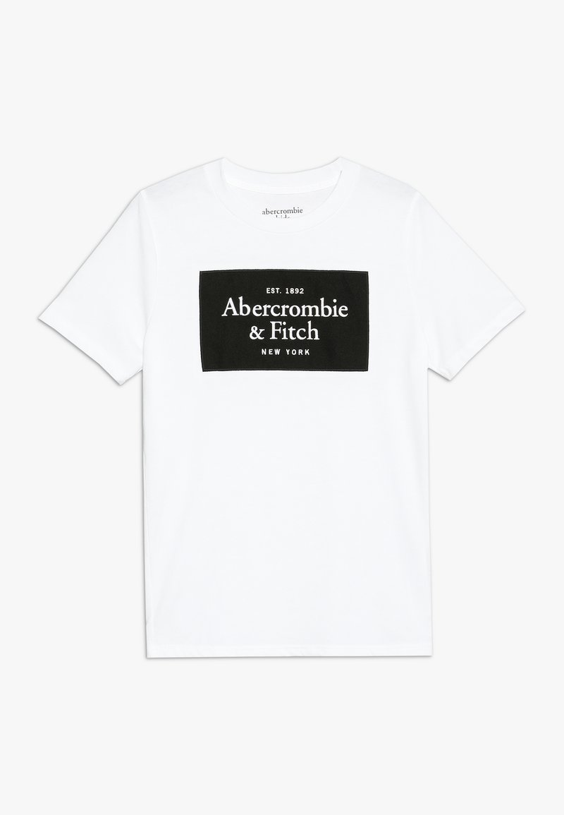 Abercrombie & Fitch - TECH LOGO  - Print T-shirt - white