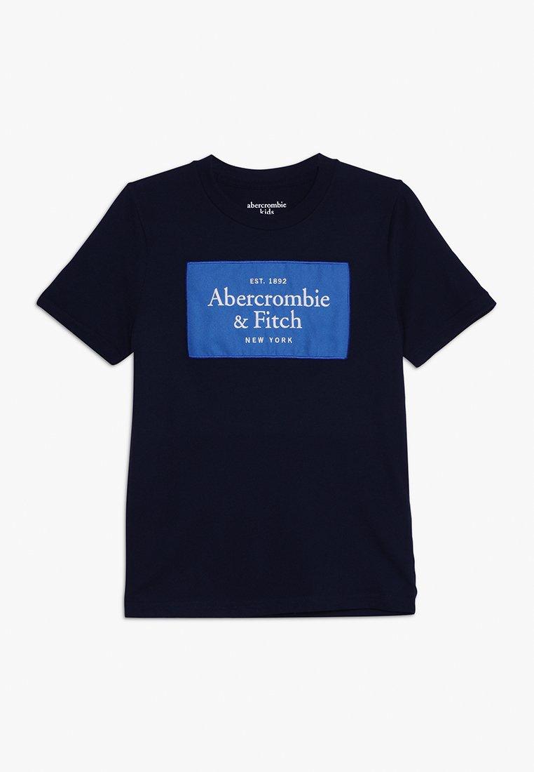 Abercrombie & Fitch - TECH LOGO  - Print T-shirt - navy