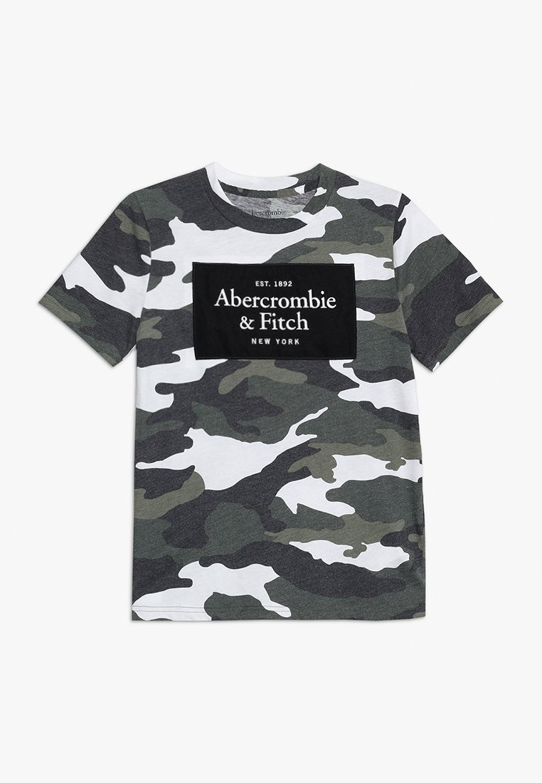Abercrombie & Fitch - TECH LOGO  - Print T-shirt - khaki