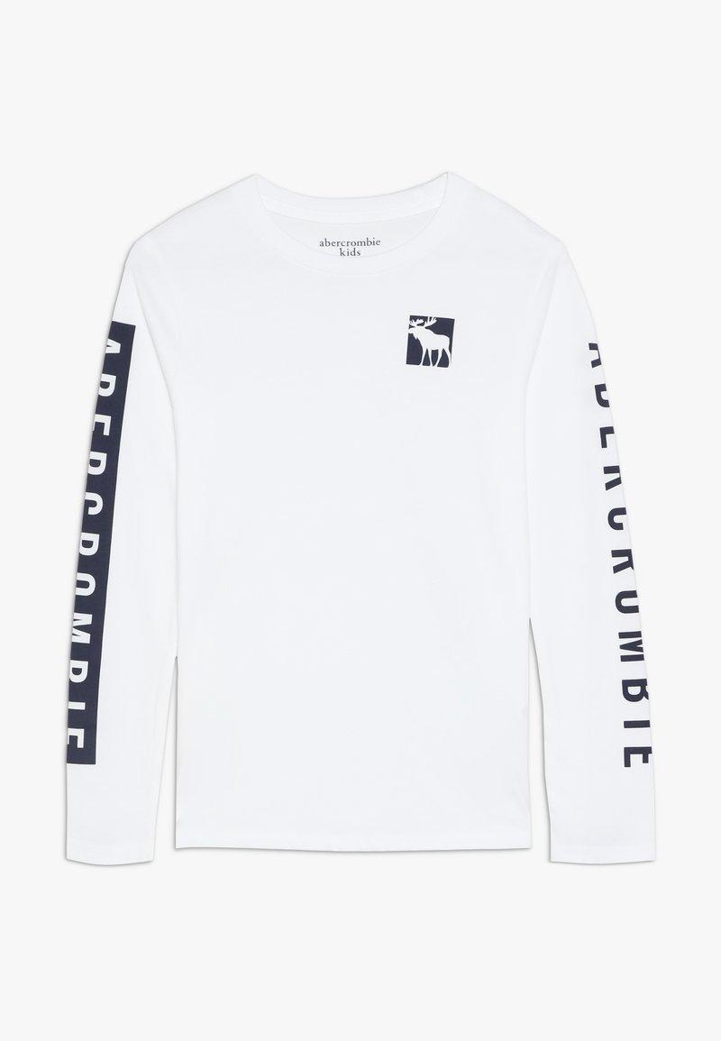 Abercrombie & Fitch - PRINT LOGO  - T-shirt à manches longues - white