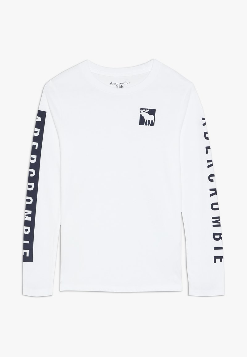 Abercrombie & Fitch - PRINT LOGO  - Maglietta a manica lunga - white