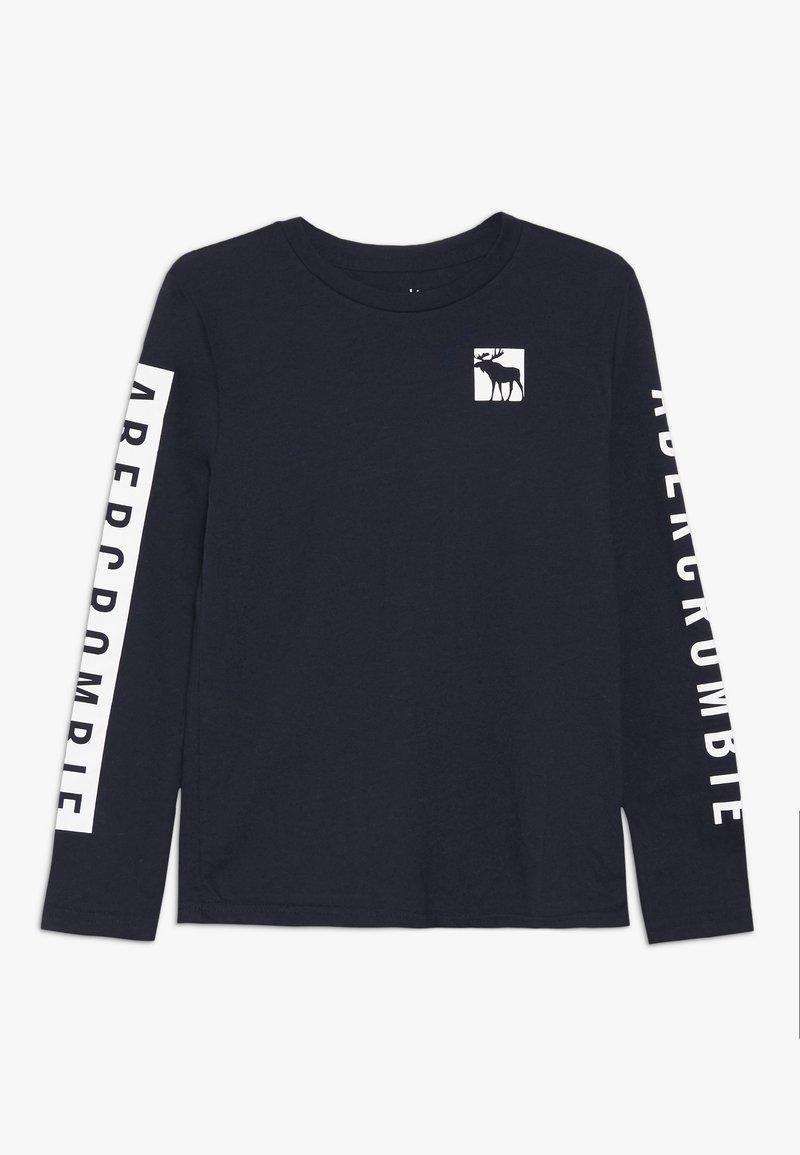 Abercrombie & Fitch - PRINT LOGO  - Langærmede T-shirts - blue