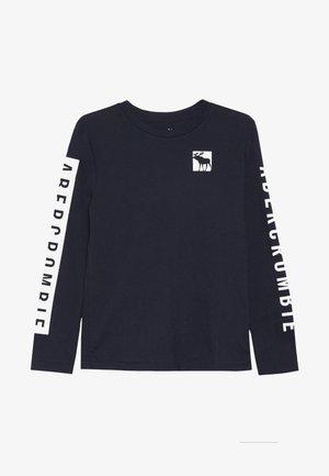 PRINT LOGO  - Long sleeved top - blue