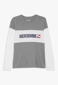 Abercrombie & Fitch - COLOR BLOCK LOGO - Longsleeve - white - 0