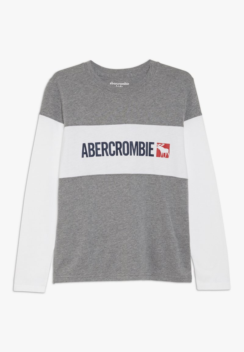 Abercrombie & Fitch - COLOR BLOCK LOGO - Longsleeve - white
