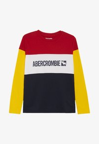 Abercrombie & Fitch - COLOR BLOCK LOGO - Longsleeve - red - 2