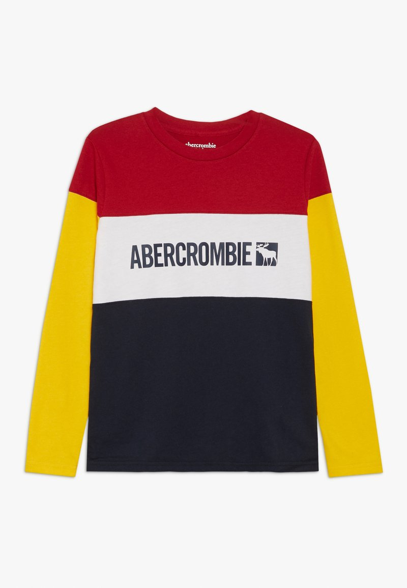 Abercrombie & Fitch - COLOR BLOCK LOGO - Longsleeve - red
